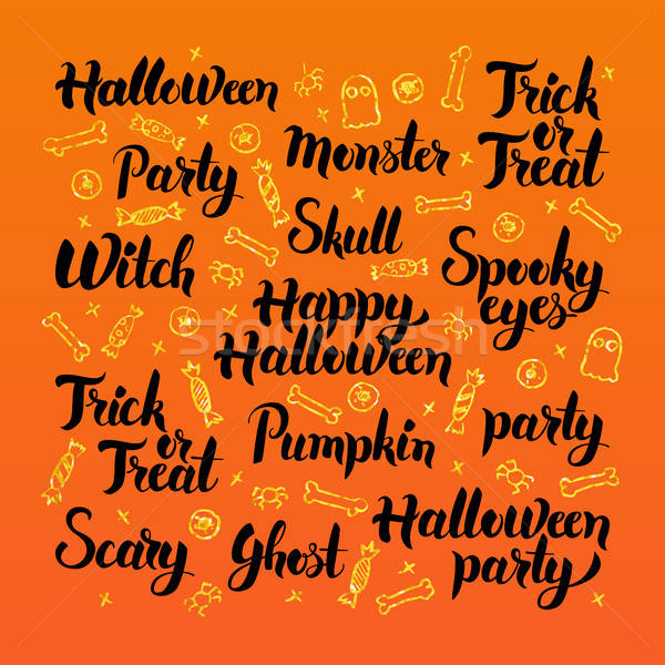 Happy Halloween Lettering Design Stock photo © Anna_leni