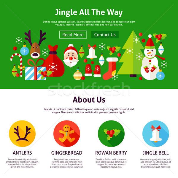 Christmas Jingle Web Design Stock photo © Anna_leni