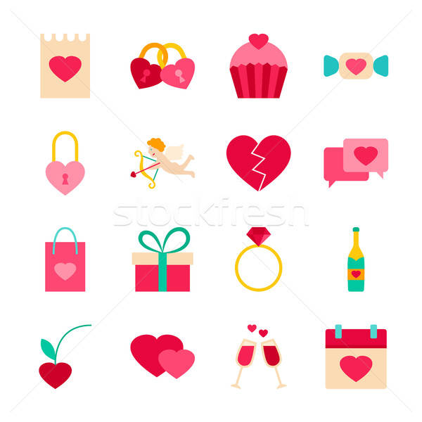 Stock photo: Happy Valentines Day Objects