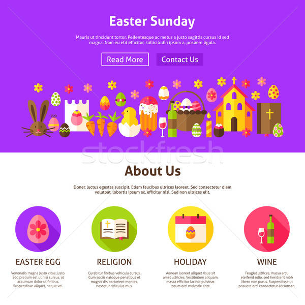 Easter Sunday Website Design Stock photo © Anna_leni