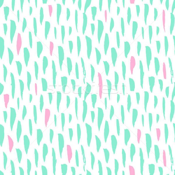 Seamless Pattern Trendy Brush Strokes Stock photo © Anna_leni
