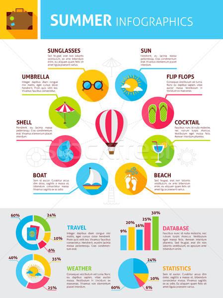 Summer Flat Infographic Stock photo © Anna_leni