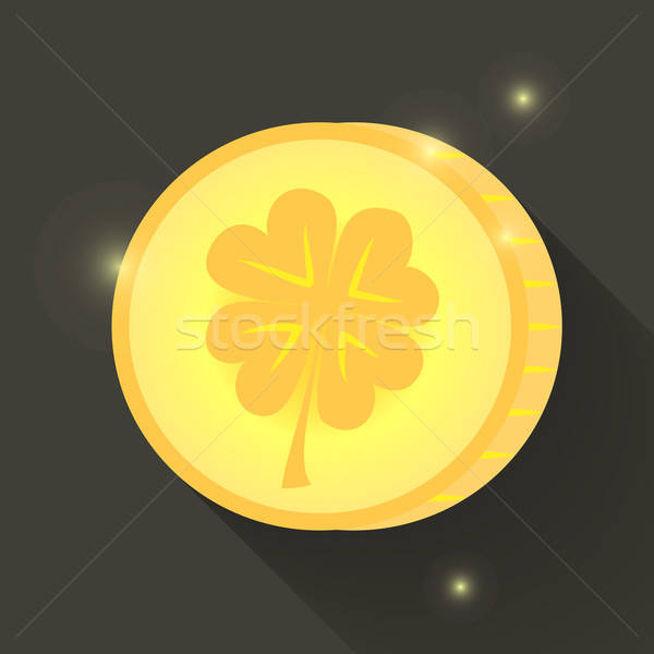 St Patrick Day gold coin icon Stock photo © Anna_leni