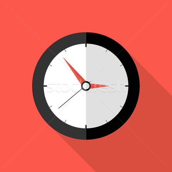 Klok termijn icon illustratie kantoor werken Stockfoto © Anna_leni