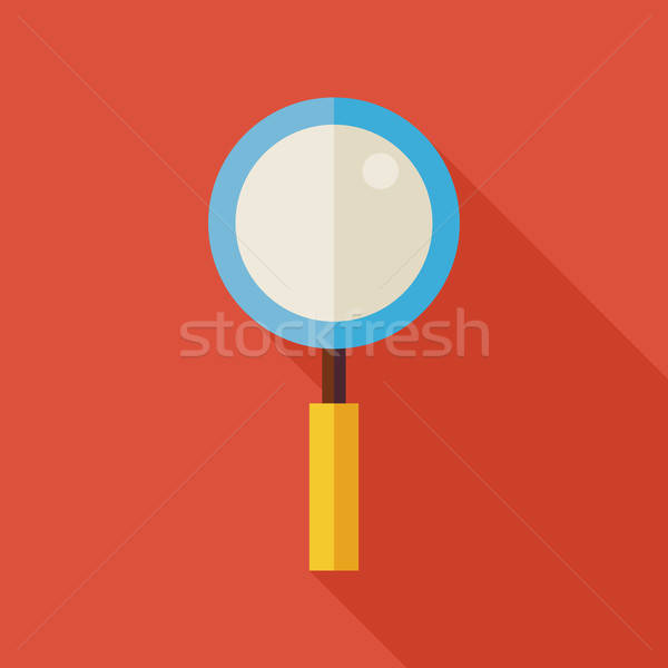 Flat Search Magnifying Glass Illustration with long Shadow Stock photo © Anna_leni