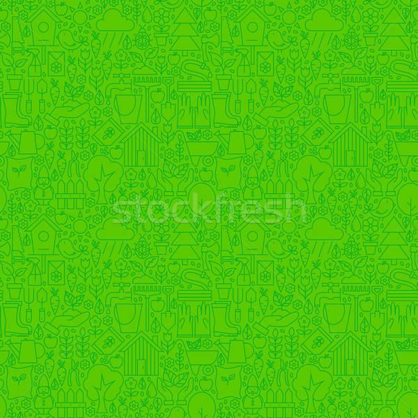 Léger ligne nature jardin vert Photo stock © Anna_leni