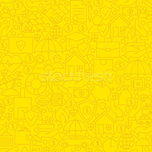 Yellow Insurance Line Tile Pattern Stock photo © Anna_leni