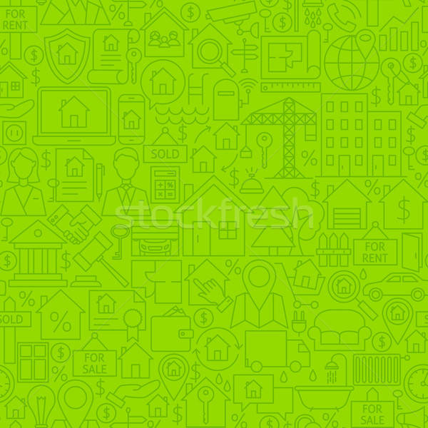 Real Estate Line Tile Pattern Stock photo © Anna_leni
