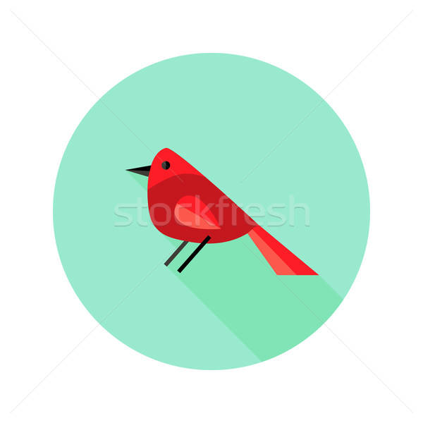 Christmas Bird Bullfinch Flat Icon Stock photo © Anna_leni