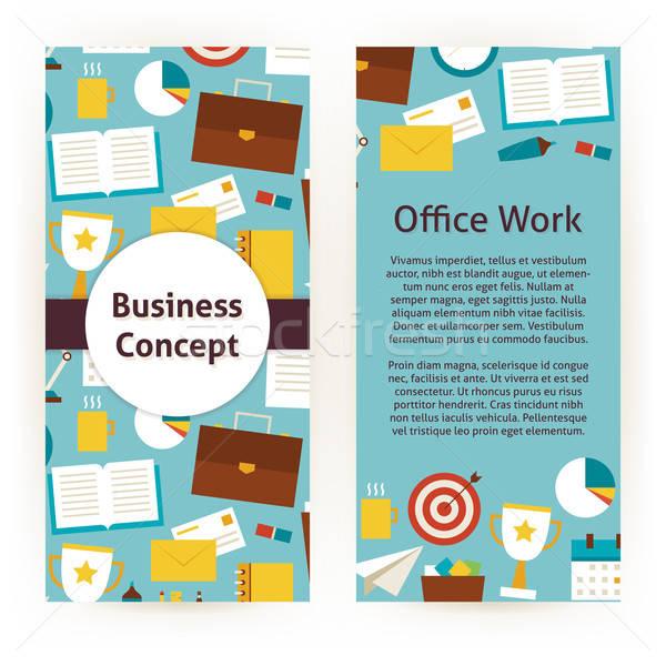 商業照片: 向量 · 傳單 · 模板 · 設計 · 業務 · 辦公室