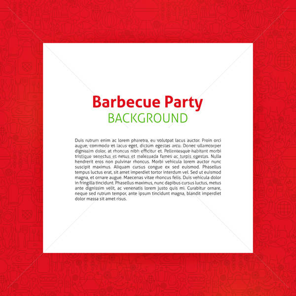 Barbecue Party Paper Template Stock photo © Anna_leni
