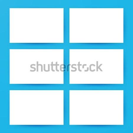 Vízszintes kártyák vázlat üres meghívók promóció Stock fotó © Anna_leni