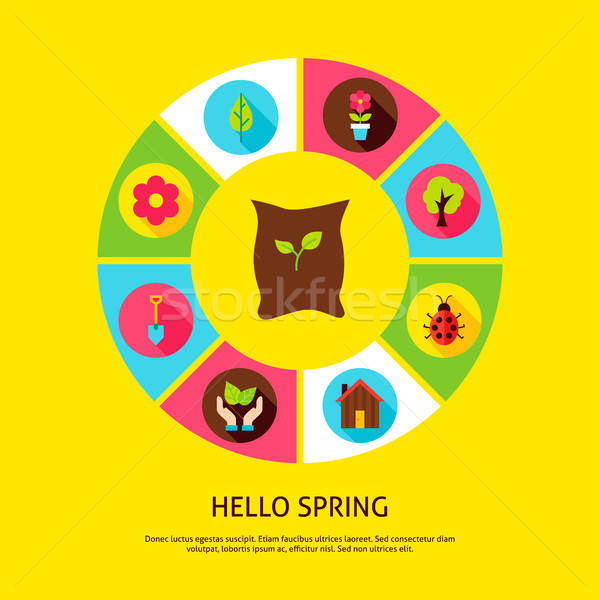 Hello Spring Concept Stock photo © Anna_leni