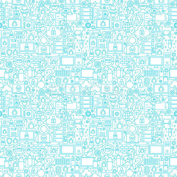 Internet Security White Seamless Pattern Stock photo © Anna_leni