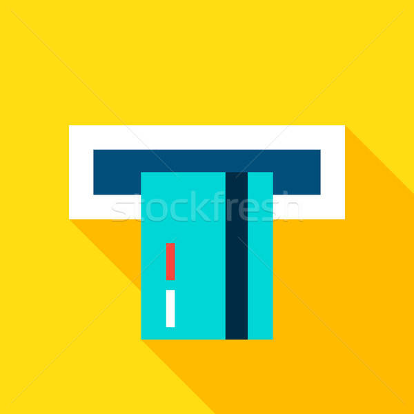 Credit Card Atm Flat Icon Stock photo © Anna_leni