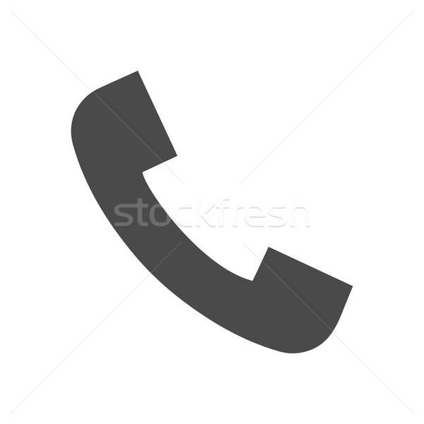 Phone Call Solid Icon Stock photo © Anna_leni