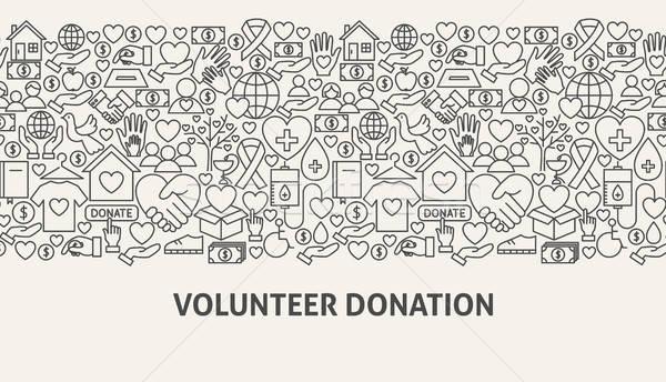 Gönüllü bağış afiş hat web tasarım iş Stok fotoğraf © Anna_leni