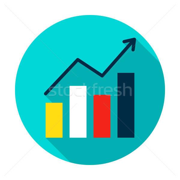 Сток-фото: роста · статистика · круга · икона · стиль · долго