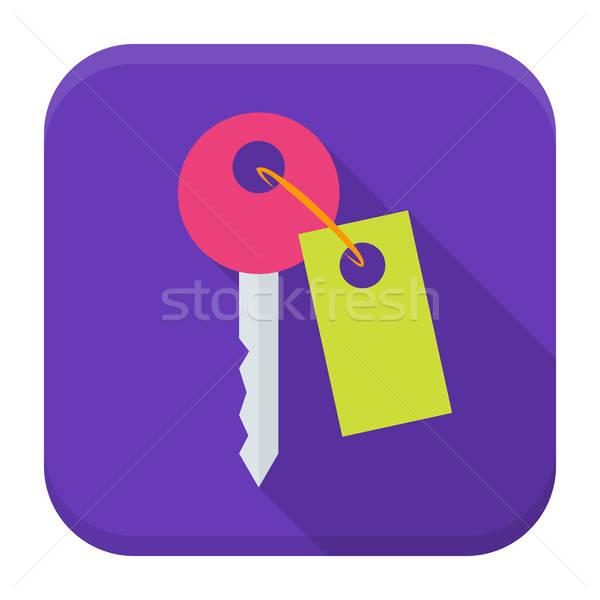 Key app icon with long shadow Stock photo © Anna_leni