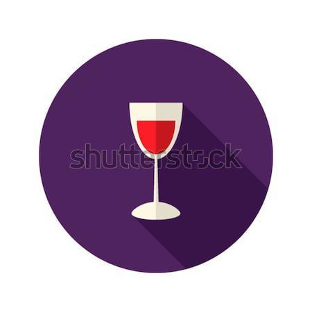 Natal vidro vinho ícone comida festa Foto stock © Anna_leni