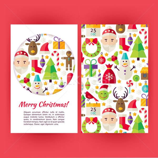 Vector Merry Christmas Banners Set Template Stock photo © Anna_leni