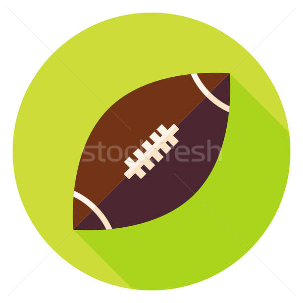 American Rugby Ball Circle Icon Stock photo © Anna_leni