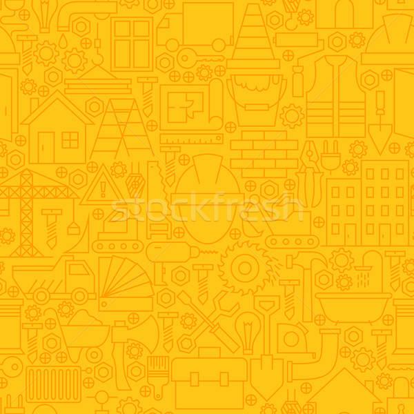 Stock fotó: Vékony · citromsárga · építkezés · vonal · végtelen · minta · vektor