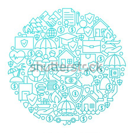 Pet Shop Line Icon Circle Design Stock photo © Anna_leni