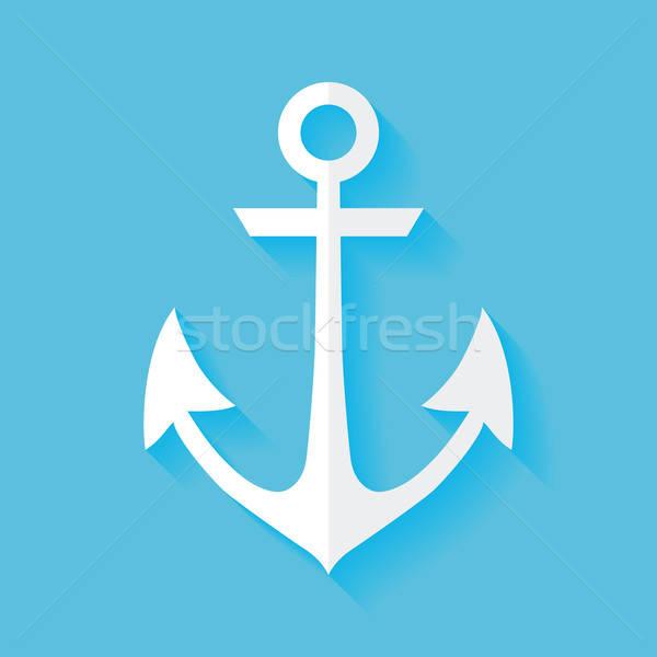 Marinos ancla mar signo buque acero Foto stock © Anna_leni