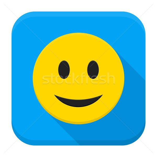 Сток-фото: улыбаясь · желтый · лице · приложение · икона · стиль