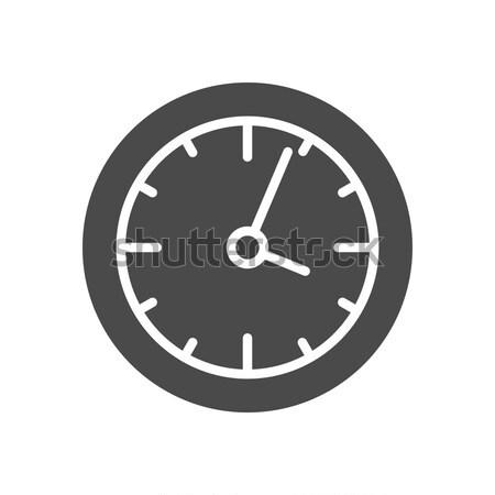 Reloj sólido icono web cara resumen Foto stock © Anna_leni