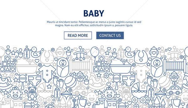 Baby Banner Design Stock photo © Anna_leni