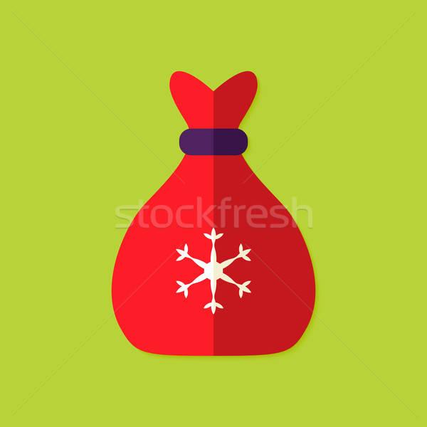 Christmas Bag Flat Icon Stock photo © Anna_leni