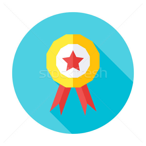 Competition award flat circle icon Stock photo © Anna_leni