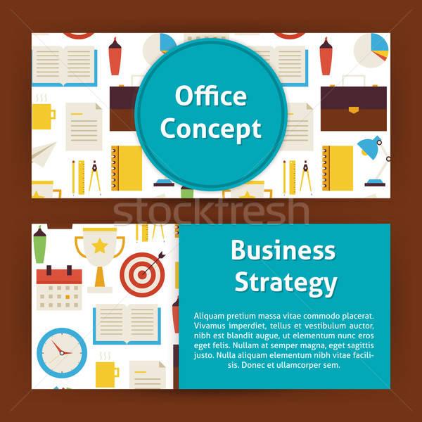 Escritório estratégia de negócios moderno estilo vetor modelo Foto stock © Anna_leni