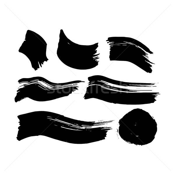Black Ink Brush Strokes Stock photo © Anna_leni