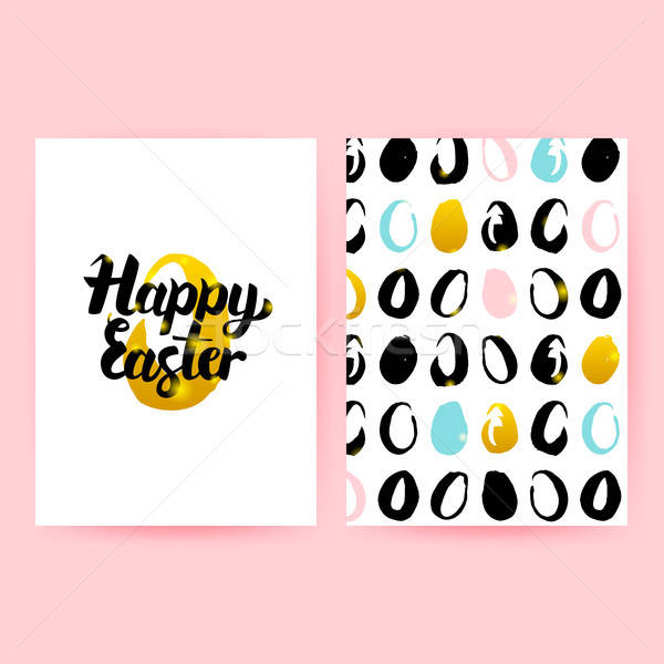 Happy Easter Retro Posters Stock photo © Anna_leni