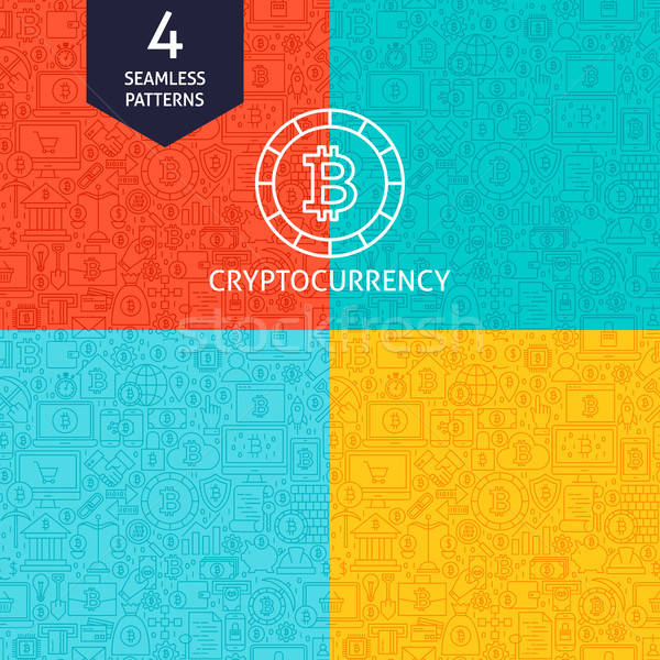 Line Cryptocurrency Patterns Stock photo © Anna_leni