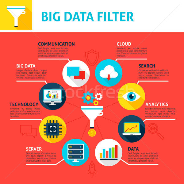 Big Data Filter Infographics Stock photo © Anna_leni