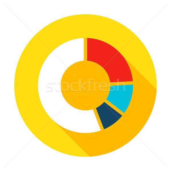 Infographic Pie Flat Circle Icon Stock photo © Anna_leni