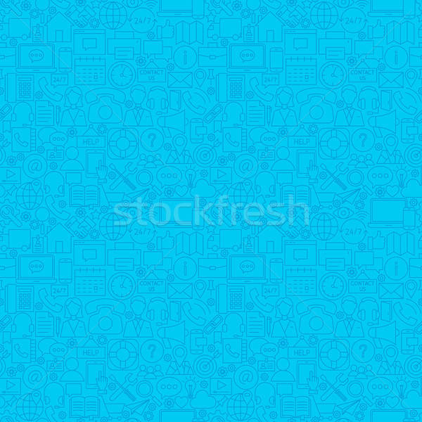 Blue Contact Us Seamless Pattern Stock photo © Anna_leni