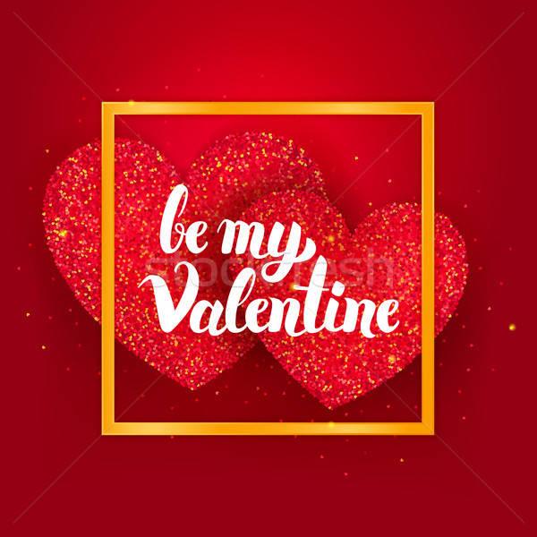 Enyém Valentin nap képeslap szeretet ünnep üdvözlőlap Stock fotó © Anna_leni