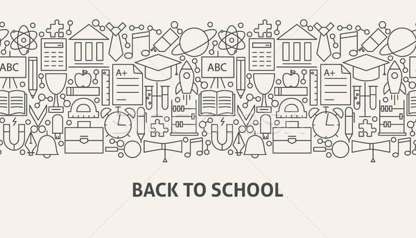 Back To School Banner Concept Stock photo © Anna_leni