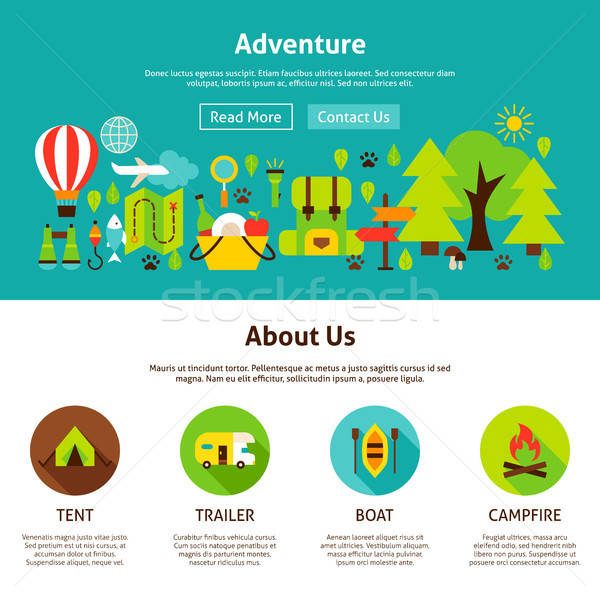 Adventure Web Design Stock photo © Anna_leni