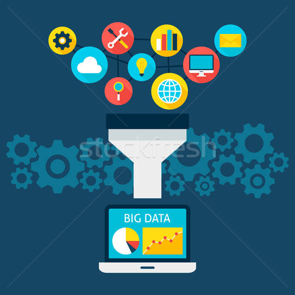 Sales Funnel Big Data Flat Concept Stock photo © Anna_leni