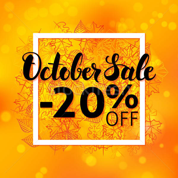 October Sale Flyer Stock photo © Anna_leni