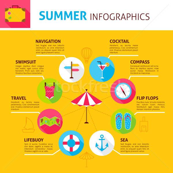 Summer Concept Infographic Stock photo © Anna_leni