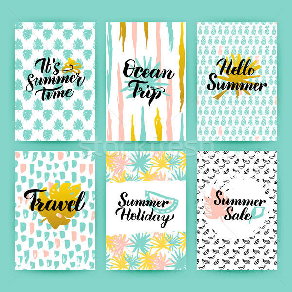 Summer Time Trendy Posters Stock photo © Anna_leni