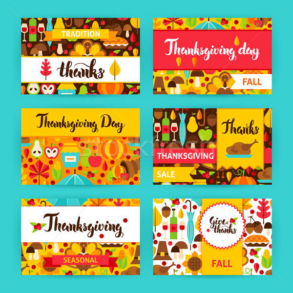 Thanksgiving Label Set Stock photo © Anna_leni
