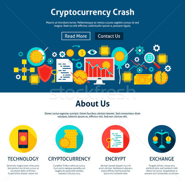 Cryptocurrency Crash Website Design Stock photo © Anna_leni